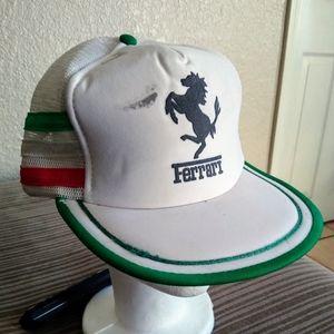 Vintage 3 stripes ferrari trucker hat